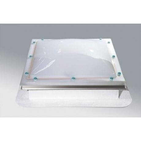 Góra Świetlik kopułkowy otwierany ręcznie, podstawa prosta z laminatu AX96