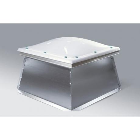 Inteligentny Świetlik kopułkowy otwierany elektrycznie, podstawa skośna HQ11